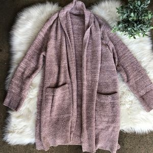 Barefoot Dreams CozyChic Blush Pink Cozy Cardigan